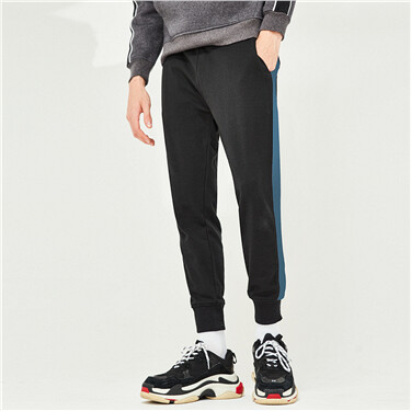 Stretchy elastic waistband lightweight joggers
