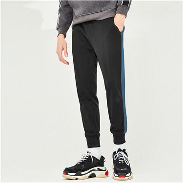 Stretchy elastic waistband lightweight joggers