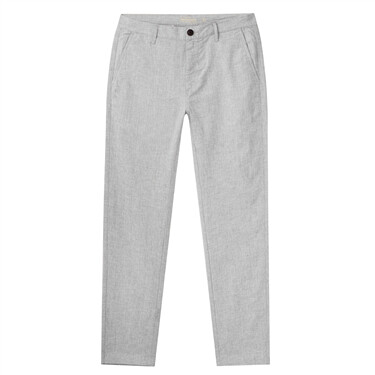 男裝麻棉中低腰休閒長褲