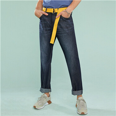 Moustache thin straight jeans