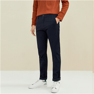 Thick sanded stretchy mid-rise pants