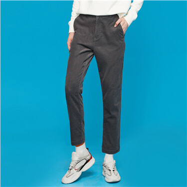 厚实灯芯绒纯棉休闲长裤