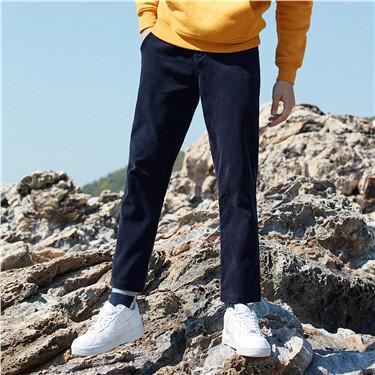 Corduroy mid-rise pants