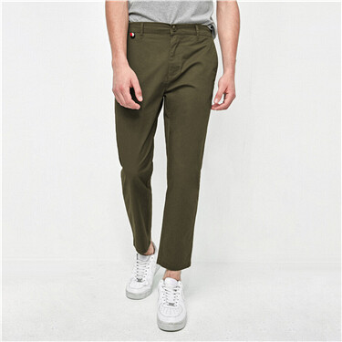 Plain Slim Ankle Length Pants