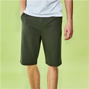 Drawstring at waist terry shorts