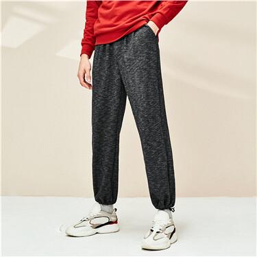 Elastic waistband mid rise joggers