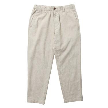 男裝麻棉修身鬆緊腰七分褲