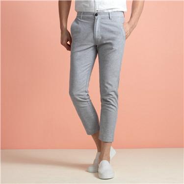 Ankle-length linen pants