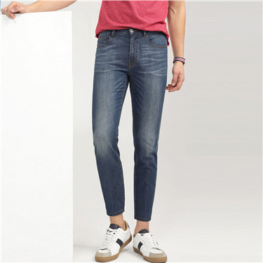 Slim tapered ankle denim jeans (Men)