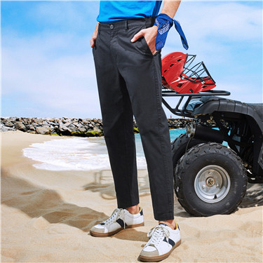 Low rise ankle-length pants