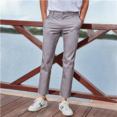 Slim mid-low rise casual ankle-length pants