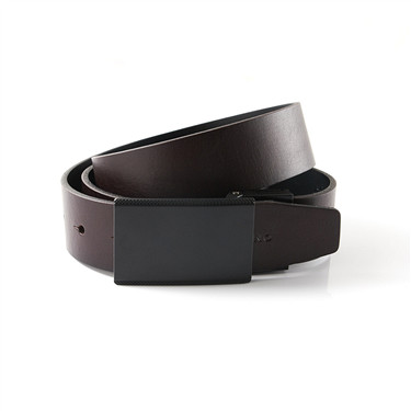 First-layer reversible leather belt
