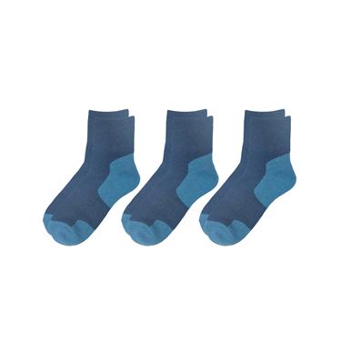 Contrast quarter socks (3-pairs)