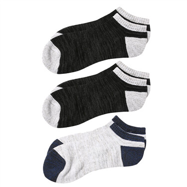 Solid ankle socks (3-pairs)