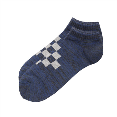 Contrast anti-slip terry lining socks