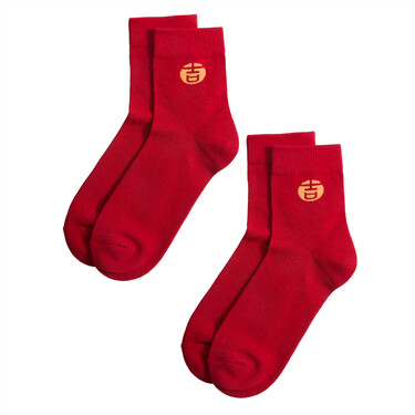 Contrast stretchy socks(2 pairs)