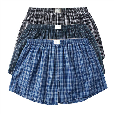 Plaid cotton boxers(3pcs/pack)