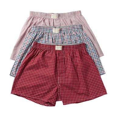 Cotton contrast-color boxers (3pcs/pack)
