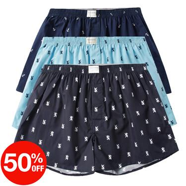 Plaid cotton boxers(3pcs/pack)