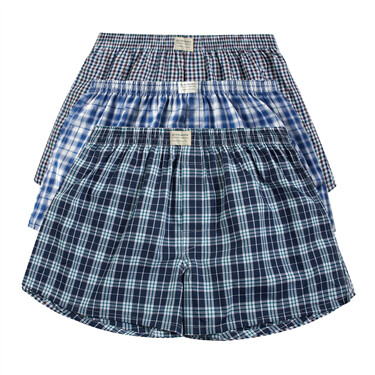 Plaid Cotton Boxers (3pcs/pack