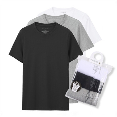 Solid crewneck basic tees (3-packs)