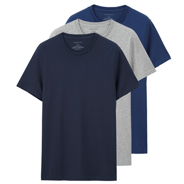 Solid Crew Neck Basic Tees (3-packs)