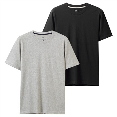 2-pack solid slim tee