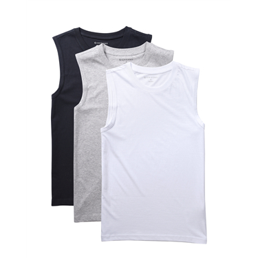 Solid U-neck basic slim vests (3-packs)