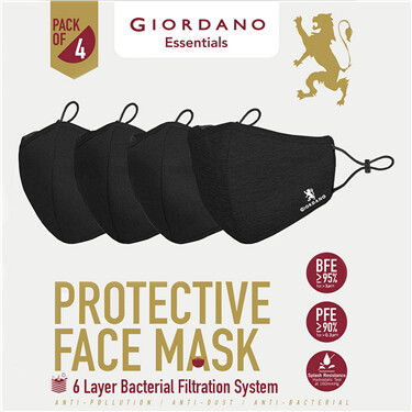 Protective Face Mask (Pack of 4)