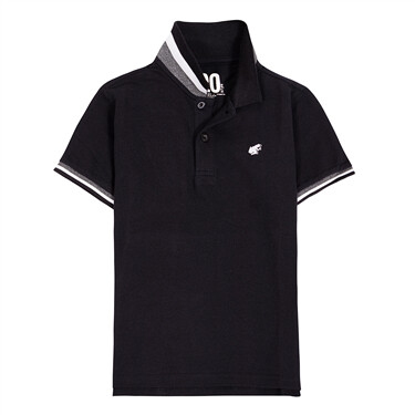 Junior solid pique polo