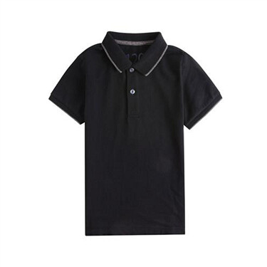 Junior Solid Short Sleeve Polo