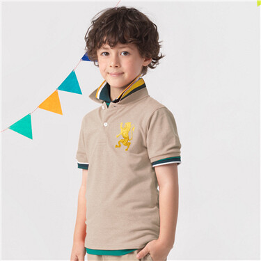 Junior3DLionMulti-colorembroiderypolo