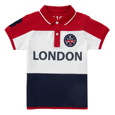 Junior Union Jack embroidery polo