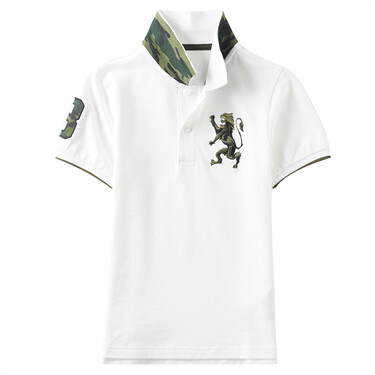 Junior Military Multi-color embroidery polo
