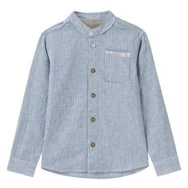 Junior Linen Cotton Long Sleeve Shirt