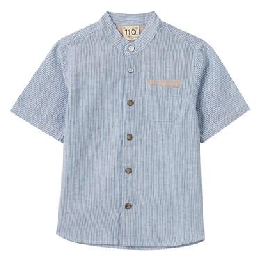Junior Linen Cotton Short Sleeve Shirt