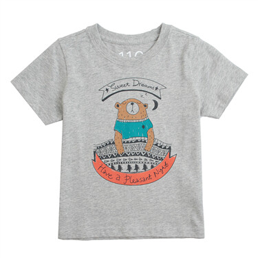 Junior Crew Neck Short Sleeve Print Tee