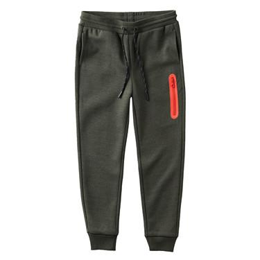 Zip elastic waistband jogger pants