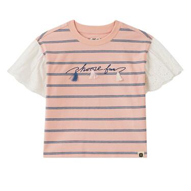 女童印花短袖T恤