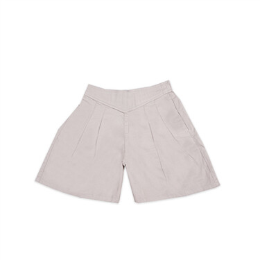 Solid casual cotton shorts