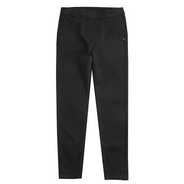簡約素色彈力斜紋修身窄腳休閑長褲