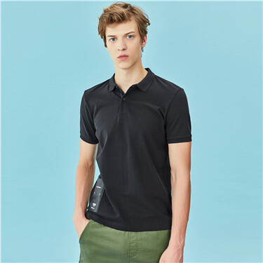 Portrait lycra pique short sleeves polo shirt