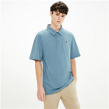 Embroidered VON loose polo shirt