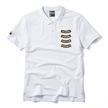 Letters embroidery polo