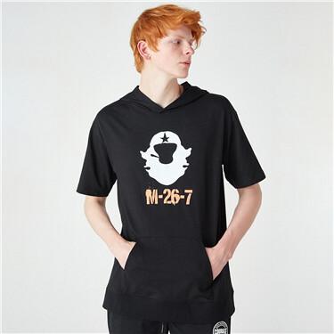 VON printed short-sleeve hoodies