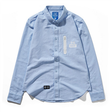 Zipper pocket long sleeve shirts