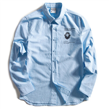 BSX oxford letter shirt