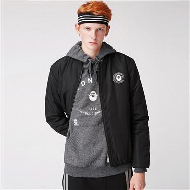 VON Stand collar quilted jacket