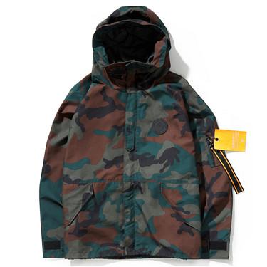 Mid long length hooded jacket