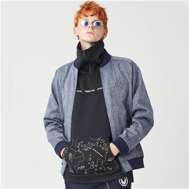 VON embossed fleece baseball jackets